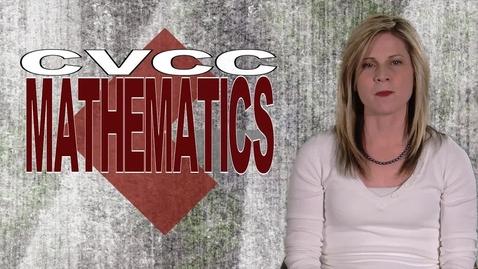 Thumbnail for entry CVCC Mathematics
