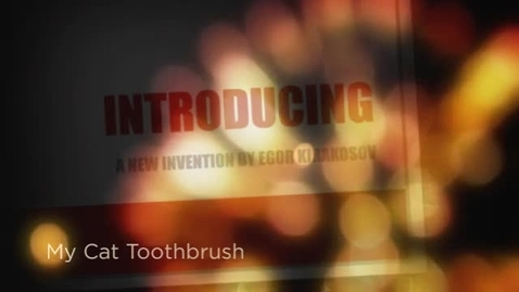 Thumbnail for entry My Cat Toothbrush, by Egor