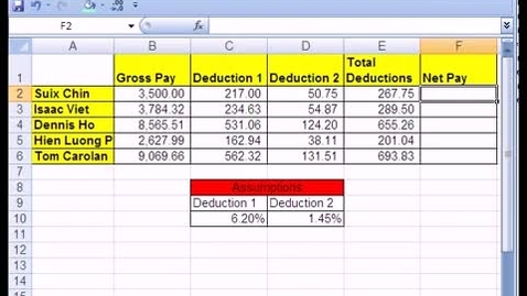 Thumbnail for entry Excel Basics #3: Formulas w Cell References