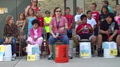 Thumbnail for entry 9:00 a.m. performance (part 5) of Bucket Drumming - Rock Ledge Summer School 2015