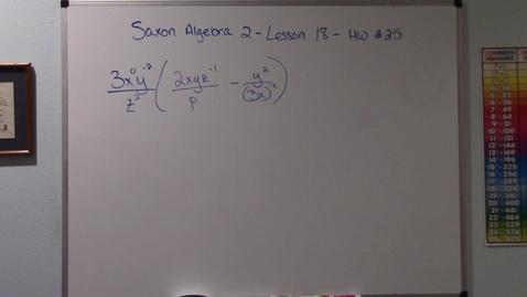 Thumbnail for entry Saxon Algebra 2 - Lesson 18 - HW #25