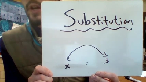 Thumbnail for entry Unit 3 - substitution