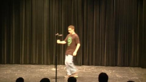 "Thumbnail for entry 2014 HS Talent Show:  Julian Singing ""Folsom Prison Blues"""