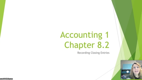 Thumbnail for entry Accounting 1 Chapter 8 Lesson 2 Closing Entries