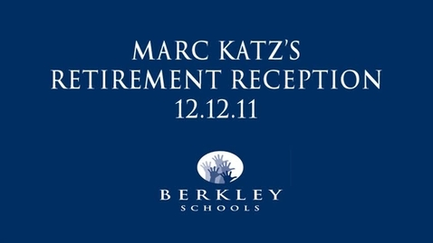 Thumbnail for entry Marc Katz Retirement Reception 2011