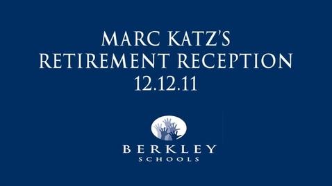 Thumbnail for entry Marc Katz Retirement Reception 2011