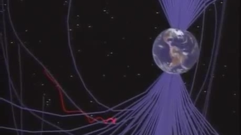 Thumbnail for entry charged particle in Earth's magnetic field