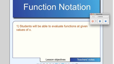 Thumbnail for entry Function Notation