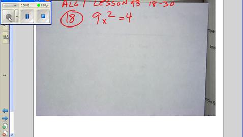 Thumbnail for entry Alg 1 Less 93 18-30 2012