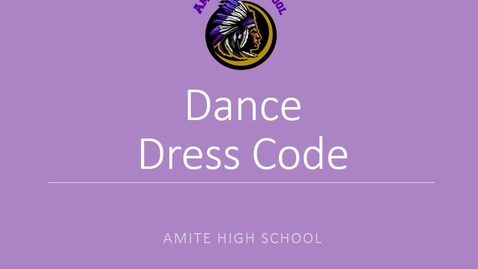 Thumbnail for entry Homecoming Dress Code