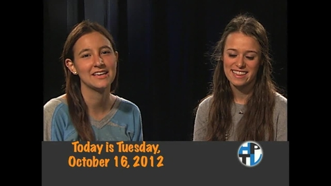 Thumbnail for entry Tuesday, October 16, 2012