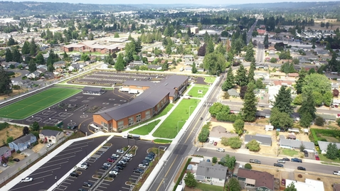 Thumbnail for entry Pioneer Elementary Drone Footage Site Progress August 2021