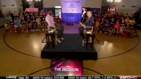"""Thumbnail for entry LeBron James """"The Decision"""""""