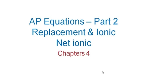 Thumbnail for entry AP Equations - Part 2