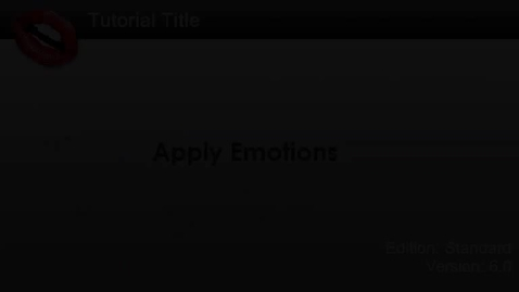 Thumbnail for entry CrazyTalk6 Tutorial - Apply Emotion