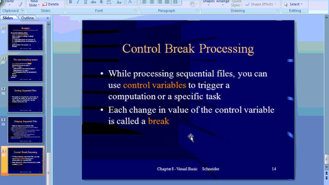 Thumbnail for entry Control Break Processing