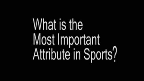 Thumbnail for entry Dedication to Sports