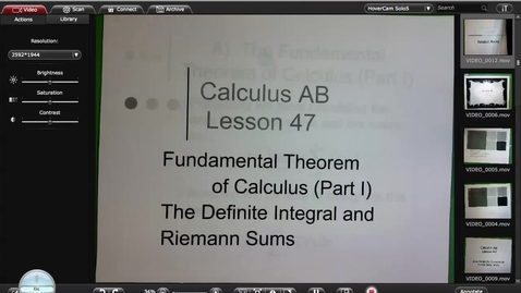 Thumbnail for entry Calculus A Lesson 47