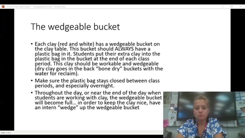 Thumbnail for entry How to wedge wedgeable bucket of clay