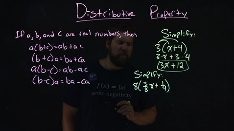 Thumbnail for entry Understanding the Distributive Property | Part 1 | 2 Examples | Minute Math