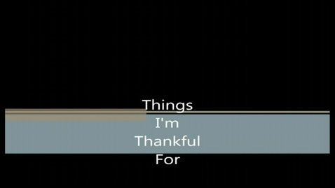 Thumbnail for entry What Are NCNAA Students Thankful For?
