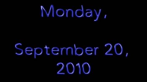 Thumbnail for entry Monday, September 20, 2010