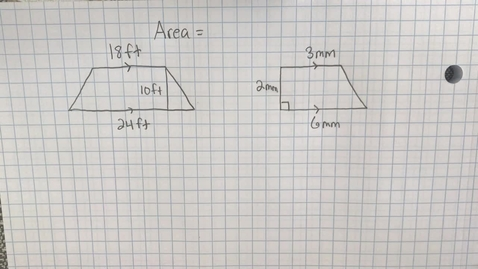 Thumbnail for entry Mr. Lamarre's Extra Help: Area of Trapezoids