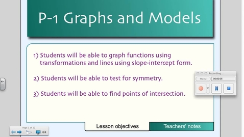 Thumbnail for entry P1 Graphs and Models