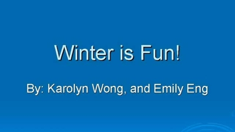 Thumbnail for entry 303 Winter's Fun