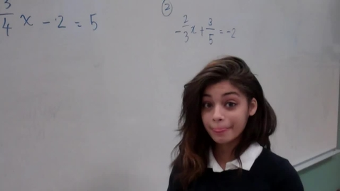 Thumbnail for entry Solving Equations with Fractions