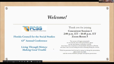 Thumbnail for entry FCSS Spring Virtual Conference Session: Digital Notebooking