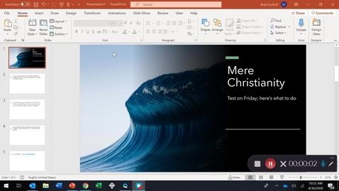 Thumbnail for entry MERE CHRISTIANITY:  preparing for Thursday's test