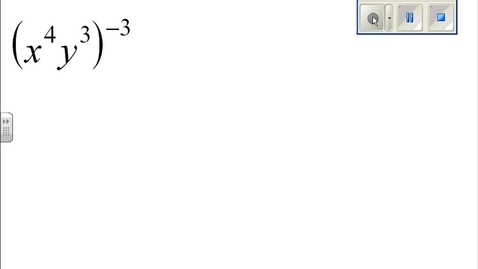 Thumbnail for entry Properties of Exponents example 6