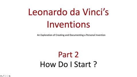 Thumbnail for entry Art Project Leonardo da Vinci's Inventions Part 2