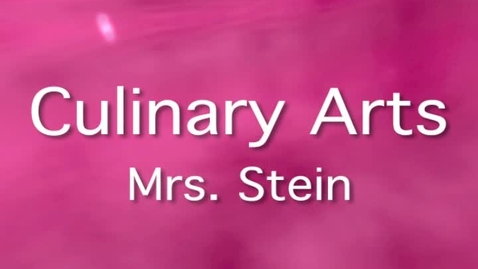 Thumbnail for entry Culinary Arts