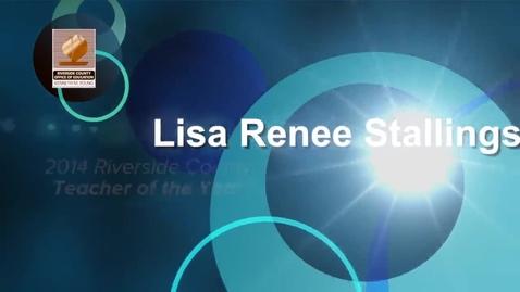 Thumbnail for entry Celebrating Education 2014:  Lisa Renee Stallings