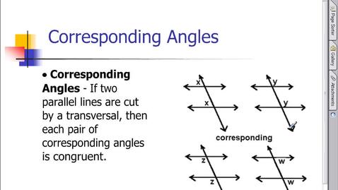 Thumbnail for entry Corresponding Angles