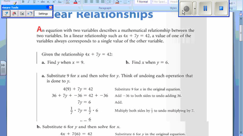 Thumbnail for entry Linear Relationships