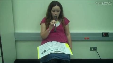 Thumbnail for entry Kristin W. recorder solo, 2011, Dabbs Elementary