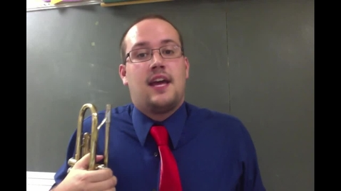 Thumbnail for entry Trombone - Making a sound and holding your instrument