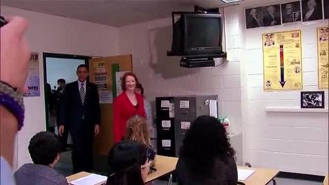 Thumbnail for entry President Obama & Prime Minister Gillard Visit Wakefield High School