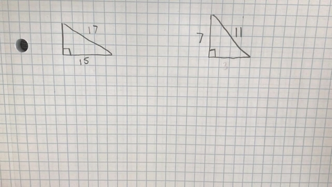 Thumbnail for entry Mr. Lamarre's Extra Help: Pythagorean Theorem (Find Missing Side Lengths)