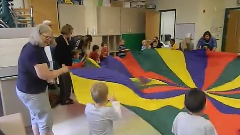 Thumbnail for entry Bonnie McBeth Early Learning Center ESY students play parachute July, 7, 2015