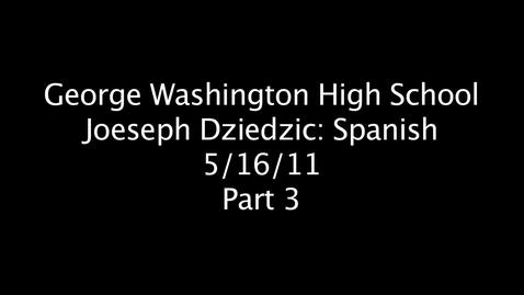 Thumbnail for entry Joeseph Dziedzic Part 3