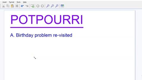 Thumbnail for entry Potpourri--2