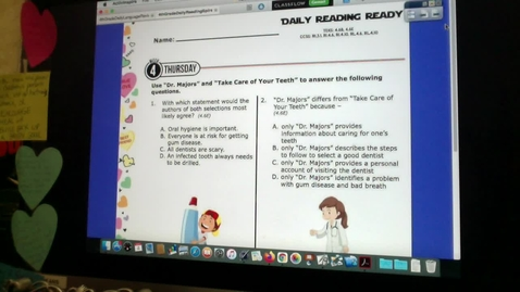 Thumbnail for entry Daily Reading and Writing Ready and TEST