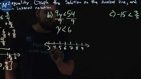 Thumbnail for entry How to Solve Inequalities and Graph Their Solutions | Part 1 | 3 Examples | Minute Math