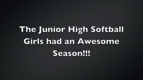 Thumbnail for entry Junior High Fall Softball