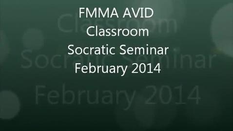 Thumbnail for entry FMMA AVID Program Socratic Seminar