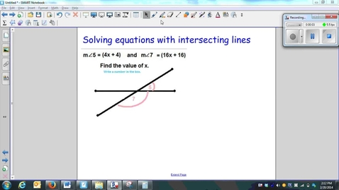 Thumbnail for entry Solving equations with intersecting lines-W5-Q9